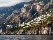 Cruising past Positano